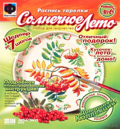 """Набор для росписи тарелки """"Рябина"""""""