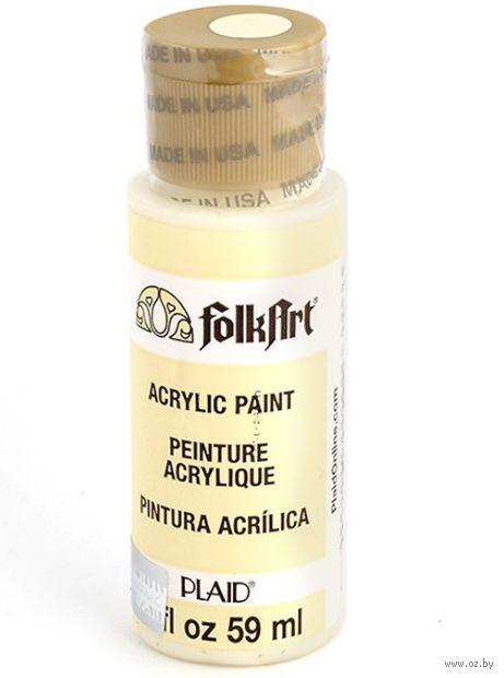 "Краска акриловая ""FolkArt. Acrylic Paint"" (сливочное масло, 59 мл; арт. PLD-00614)"