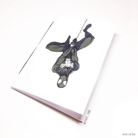 "Блокнот белый ""Человек паук"" А6 (766)"