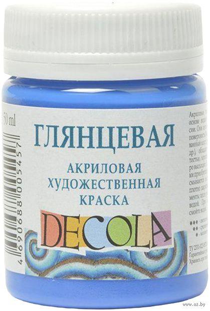 """Краска акриловая """"Decola. Glossy"""" (синяя; 50 мл) — фото, картинка"""