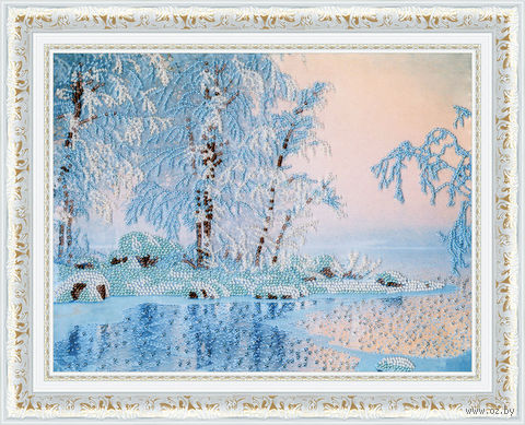 "Вышивка бисером ""Голубое озеро"" (246х317 мм) — фото, картинка"