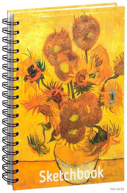 "Скетчбук ""Ван Гог. Подсолнухи"" (168х246 мм) — фото, картинка"