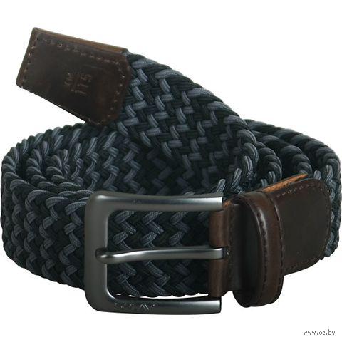Ремень эластичный (100 см; чёрно-серый) — фото, картинка