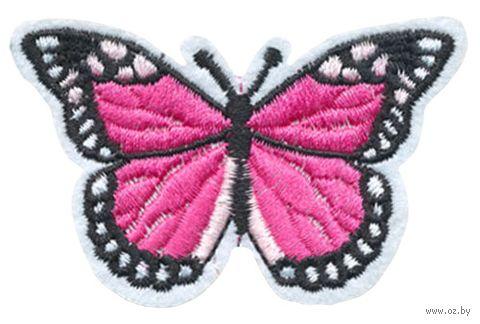"Термоаппликация ""Бабочка бело-малиновая"" — фото, картинка"