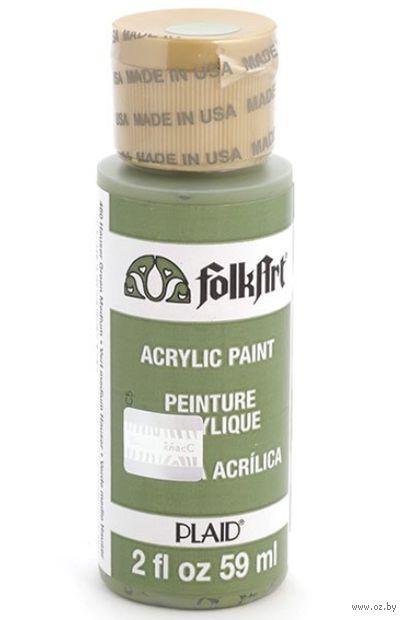 "Краска акриловая ""FolkArt. Acrylic Paint"" (средне-зеленый; 59 мл; арт. PLD-00460) — фото, картинка"