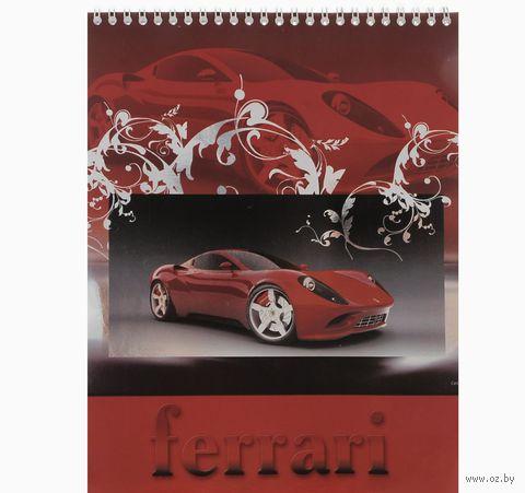 """Блокнот """"Ferrari"""" на спирали (А4; 80 листов)"""