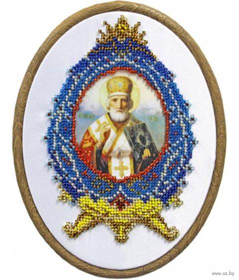 """Вышивка бисером """"Николай Чудотворец"""" (110х160 мм) — фото, картинка"""