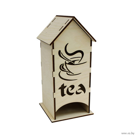 "Заготовка деревянная ""Чайный домик. Чай"" (195х80х80 мм)"