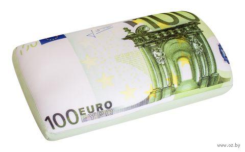"Подушка ""100 евро"" (42х22 см) — фото, картинка"