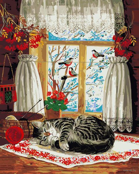 """Картина по номерам """"Зима за окном"""" (500х400 мм) — фото, картинка"""