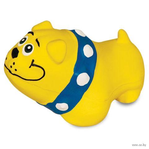 """Игрушка для собак с пищалкой """"Бульдог"""" (10 см) — фото, картинка"""