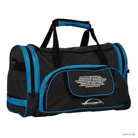 Сумка спортивная 6065с (37,5 л; чёрно-синяя) — фото, картинка