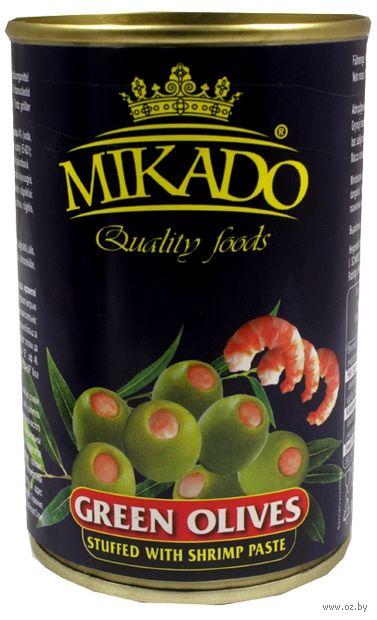 "Оливки ""Mikado. С креветками"" (300 мл) — фото, картинка"