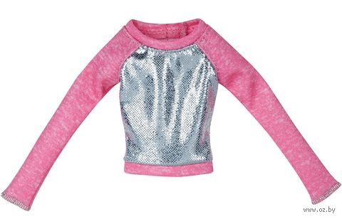 "Одежда для куклы ""Барби. Розово-серебристый свитер"""