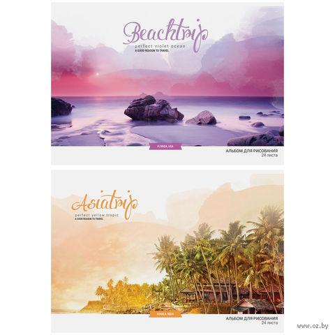 """Альбом для рисования А4 """"Путешествия. Romantic Places"""" (24 листа; арт. А24ВЛ_9067)"""