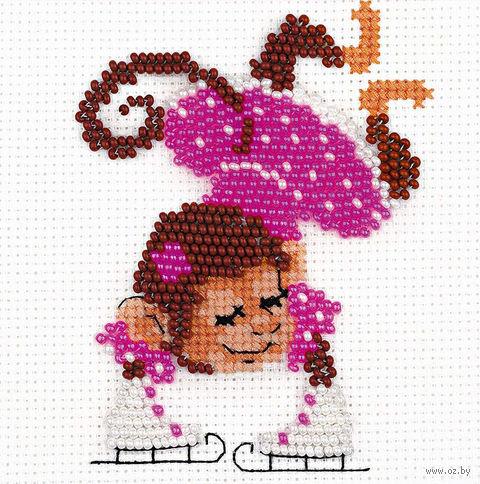 "Набор для вышивания ""Фигуристка"" (100х100 мм) — фото, картинка"
