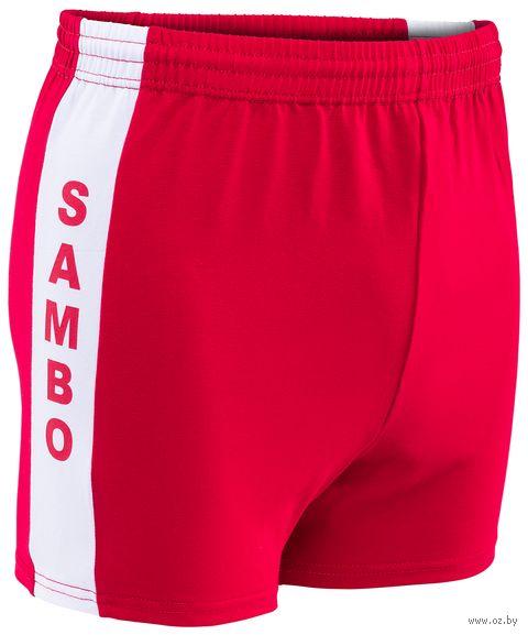Шорты для самбо (р. 40; красные) — фото, картинка