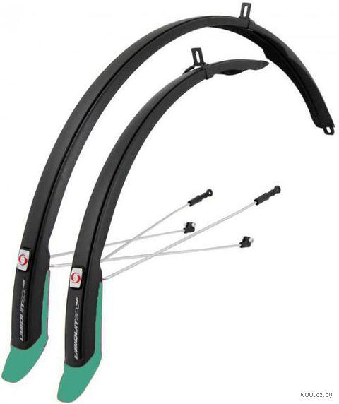 """Комплект щитков для велосипеда """"Ubiquit 46 SDL"""" (чёрно-бирюзовый) — фото, картинка"""
