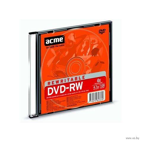 Диск DVD-RW 4,7GB 2-4x Acme Slim Box
