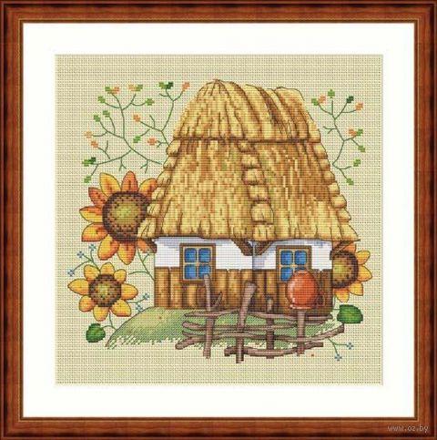 "Вышивка крестом ""Дом"" (230х230 мм) — фото, картинка"