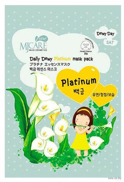 """Тканевая маска для лица """"Daily Dewy Platinum Mask Pack. С платиной"""" (25 г) — фото, картинка"""