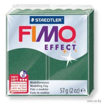 """Глина полимерная """"FIMO. Effect Metallic"""" (зеленый опал; 56 г)"""