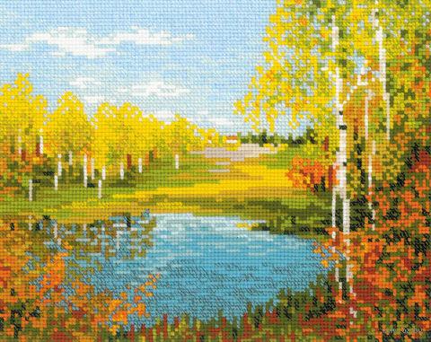 """Вышивка крестом """"Осенний день"""" (300х240 мм) — фото, картинка"""
