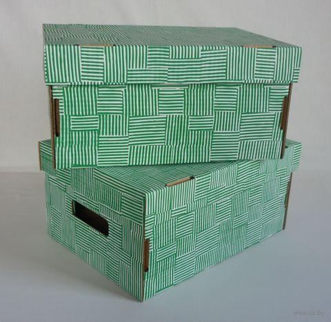 Набор коробок (2 шт.; зеленый) — фото, картинка