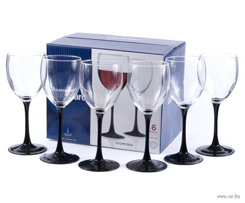"Бокал для вина стеклянный ""Domino"" (6 шт.; 350 мл) — фото, картинка"