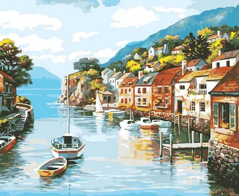 "Картина по номерам ""Лодочка на реке"" (400х500 мм) — фото, картинка"