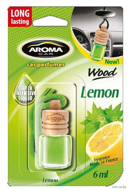 "Ароматизатор подвесной ""Wood"" (lemon) — фото, картинка"