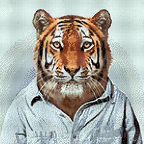 "Алмазная вышивка-мозаика ""Мистер Тигр"" (380х380 мм) — фото, картинка"