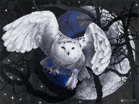 """Алмазная вышивка-мозаика """"Летящая сова"""" (350х465 мм) — фото, картинка"""