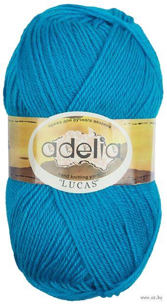 "Пряжа ""Adelia. Lucas №11"" (100 г; 218 м; ярко-голубой) — фото, картинка"