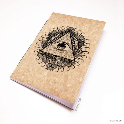 """Блокнот крафт """"Всевидящее око"""" А6 (942)"""