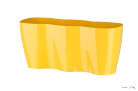 Цветочный горшок (35х12х16 см; желтый) — фото, картинка