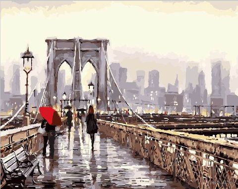 """Картина по номерам """"Мост в мегаполис"""" (400х500 мм) — фото, картинка"""