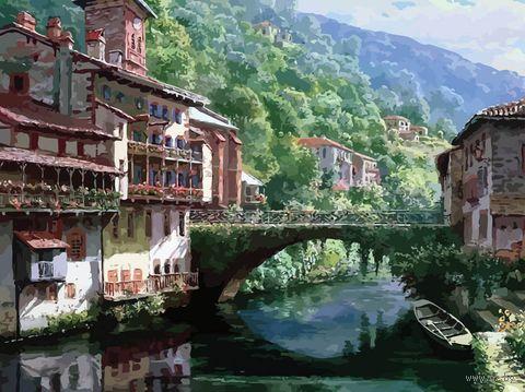 """Картина по номерам """"Древний мост через Нив"""" (400х500 мм) — фото, картинка"""