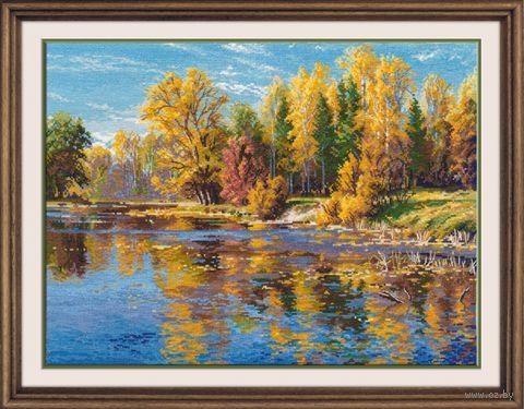 """Вышивка крестом """"Осень"""" (340х250 мм) — фото, картинка"""