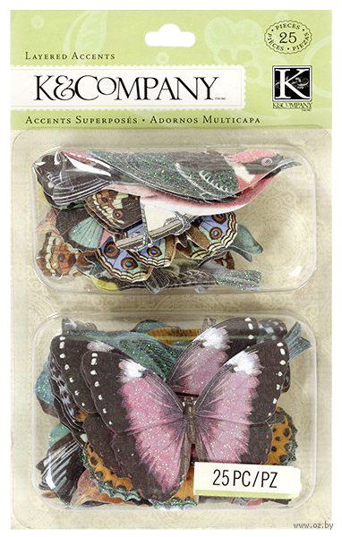 """Стикеры для скрапбукинга """"Веселая погода. Птицы и бабочки"""""""
