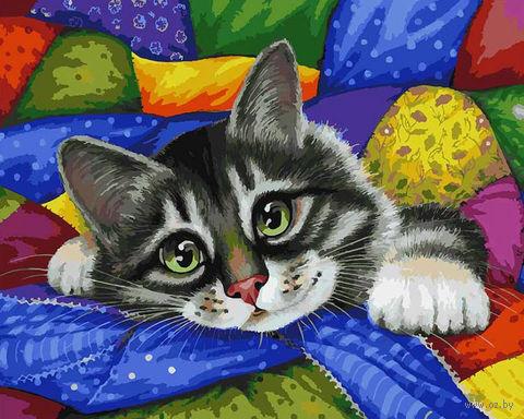 "Картина по номерам ""Котик в лоскутках"" (400х500 мм)"