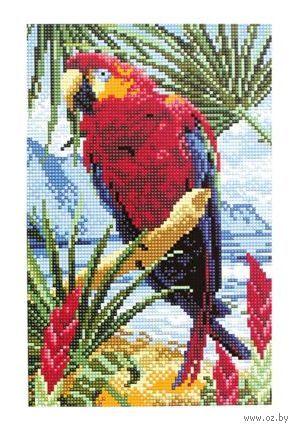 """Алмазная вышивка-мозаика """"Попугай"""" (200x300 мм) — фото, картинка"""