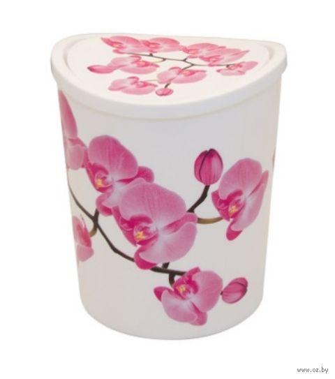 """Ведро для мусора """"Орхидея"""" (1,6 л) — фото, картинка"""