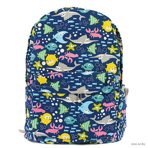 """Рюкзак """"Рыбы"""" (12 л; синий) — фото, картинка"""
