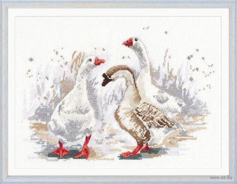 """Вышивка крестом """"Три веселых гуся"""" (270х190 мм) — фото, картинка"""
