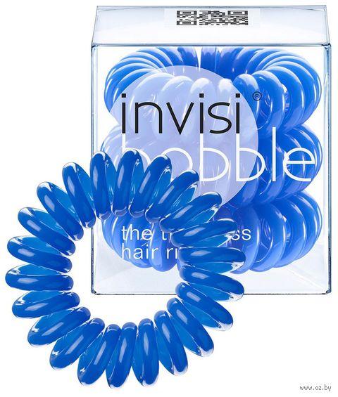 """Набор резинок-браслетов для волос """"Invisibobble Navy Blue"""" (3 шт.; арт. 3003) — фото, картинка"""