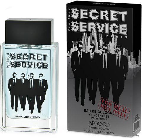 "Одеколон ""Secret Service. Platinum"" (100 мл) — фото, картинка"
