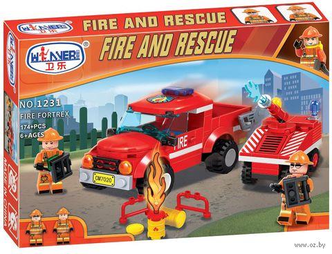 """Конструктор """"Fire and rescue. Пожарный отряд"""" (174 детали) — фото, картинка"""