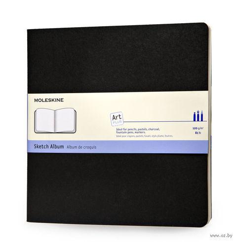 "Скетчбук Молескин ""Cahier"" (190x190 мм, мягкая черная обложка)"