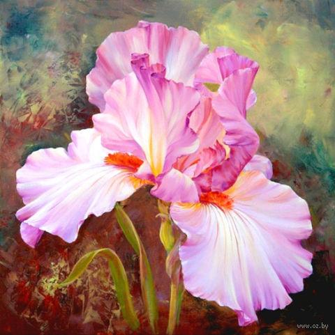"""Алмазная вышивка-мозаика """"Розовый ирис"""" (400х400 мм) — фото, картинка"""